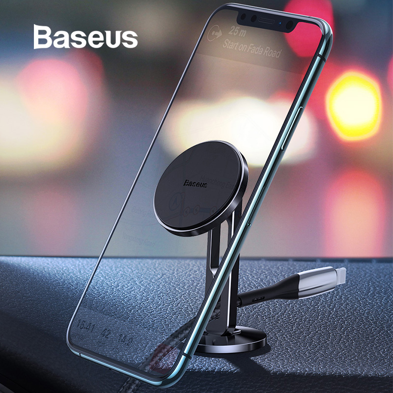Baseus Magnetic Car Phone Holder For IPhone Samsung Strong Magnet Mount Holder Stand For Phone In Car Mobile Holder