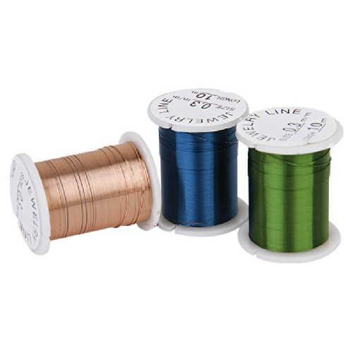 10 のロール銅線ビーズ糸コード Diy のジュエリーミックス色---0.3 ミリメートル