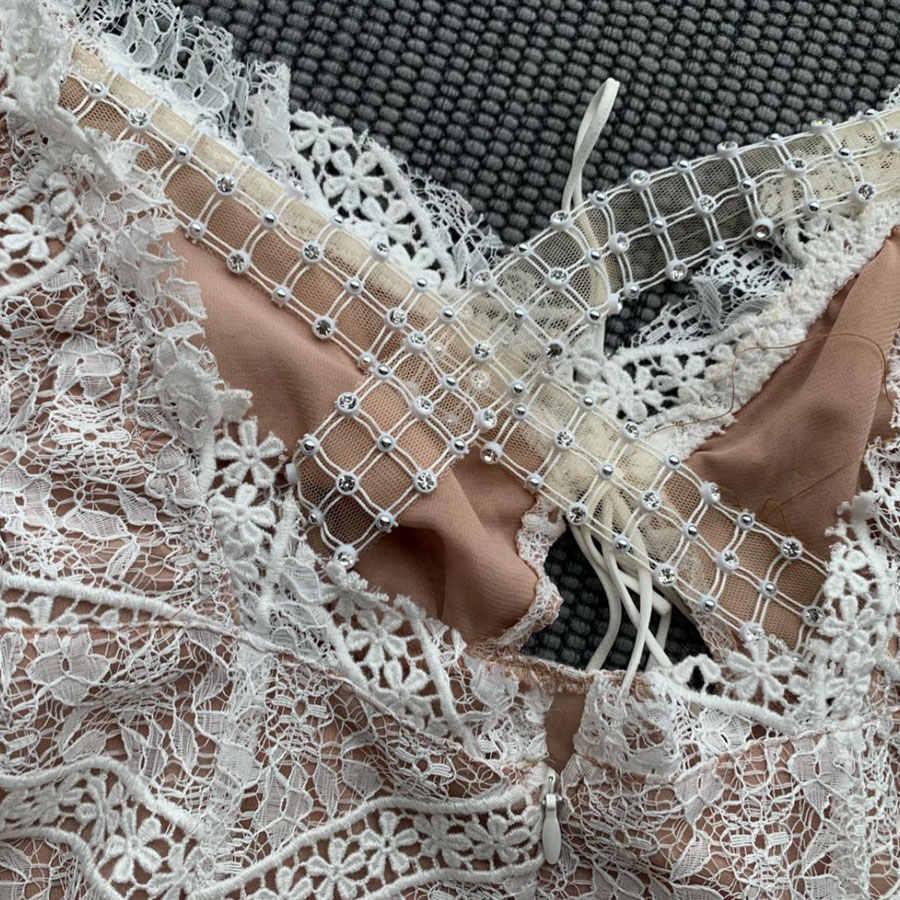 Новое поступление 2019, женское модное сексуальное платье, длинные рукава, выдалбливают бисерный узор, открытая спина, взъерошенные Платья, Вечерние Платья Vestidos
