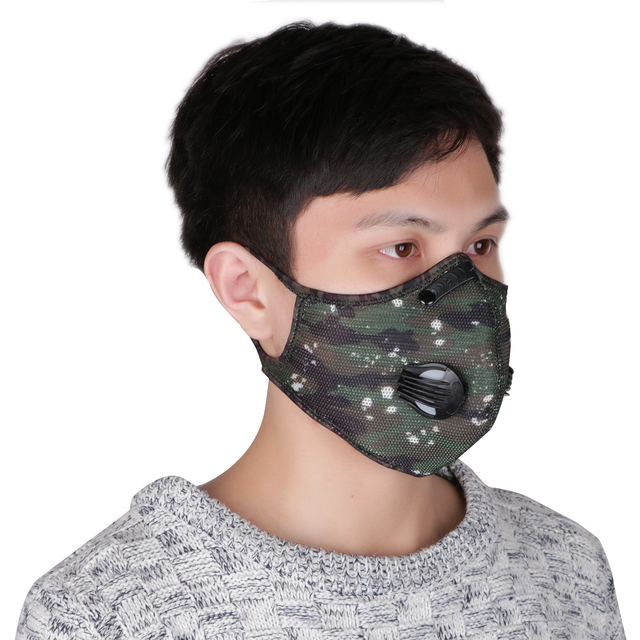 Reusable Respirator Anti Protection Flu Mask Droplets Face Mask Filter PM2.5 Anti-fog Breathable Dustproof Bicycle PM25 Dust 3