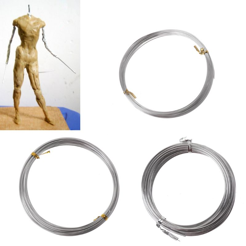 Silver Metal Flexible Anodized Aluminum Armature Wire DIY Sculpture And Crafts