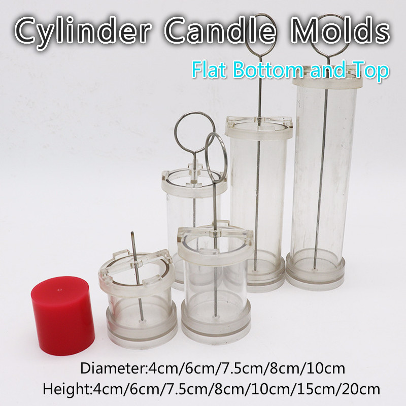 DIY Candle Molds Handmade Candle Making Cylinde Molds with Flat Bottom/Top Candles Mould Diameter 4cm/5cm/6cm/7cm/7.5cm/10cm