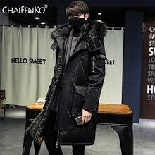 Chaifenko 2020 брендовая зимняя теплая куртка пуховик для мужчин