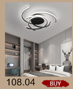 H91cde44353f14ede99f0cf47a12cebef8 Creative modern led ceiling lights living room bedroom study balcony indoor lighting black white aluminum ceiling lamp fixture
