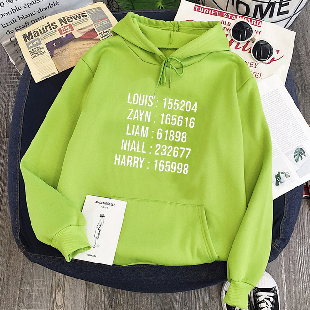 ONE DIRECTION MEMBER NAME HOODIE (7 VARIAN)