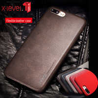 For iPhone XS Max XR case, X-Level Luxury Vintage Leather Case for iPhone 6 6s Plus Back Cover Case for iPhone 7 8 8 plus hoesje
