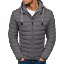 ZOGAA Brand Men Winter Parka Casual Hooded Coat Men Solid Jacket Puffer Cotton Overcoat Warm Thick Streetwear Parkas hombre 20 все цены