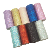 2yard 375mm Glitter Ribbon Shiny Colorful Hairbow Tape Materials DIY Wedding Patry Decoration Hairbows Accessories