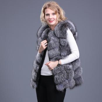 2019 السيدات جديد الطبيعية فوكس الفراء مربع سترة الفراء الحقيقي سترة عارضة الأزياء الأوروبية الخريف والشتاء أسلوب الشارع 1
