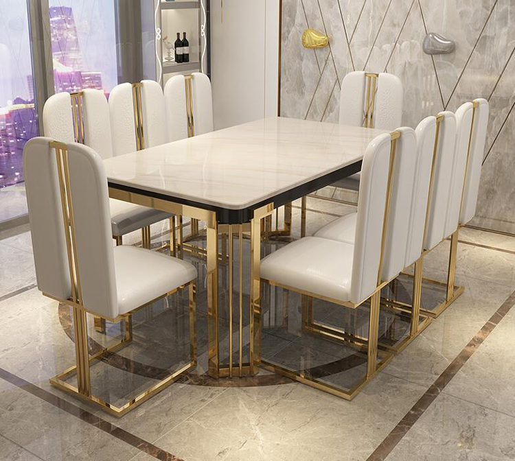 Luxury Marble Dining Table Rectangular Table Living Room Home Furniture стол обеденный Length 120cm/140cm/160cm