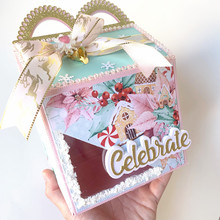 해피 런치 박스 diy scrapbooking 포토 앨범 장식 엠보싱 diy 종이 카드에 대한 스텐실 금속 절단