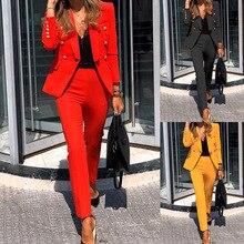 Pant Suits Set Women's Elegant Blazers Set