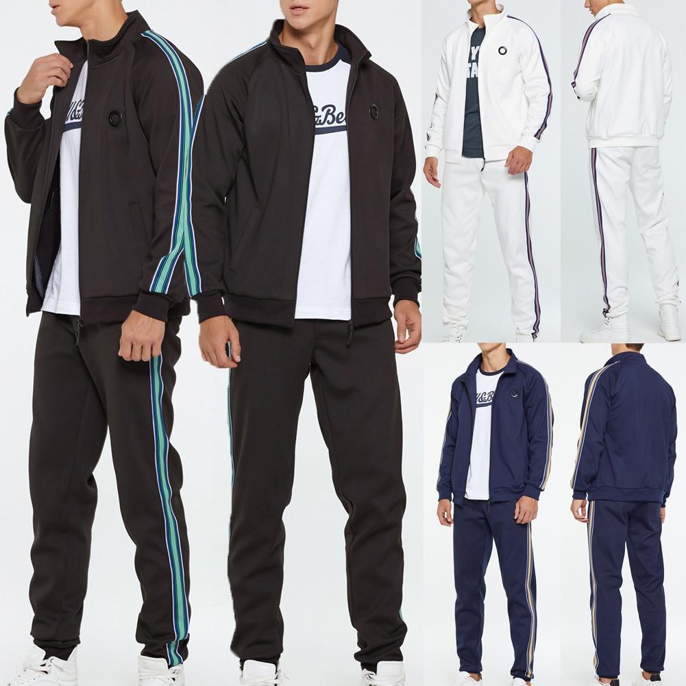 Men Tracksuit Male Jogging Plus Size Coat Fashion Tracksuit Casual Gym