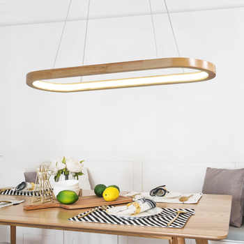 Wooden Ring Chandelier Living room Bedroom Kitchen oval chandelier Lustre Indoor home Led Pendant lamp Fixtures - DISCOUNT ITEM  30% OFF All Category