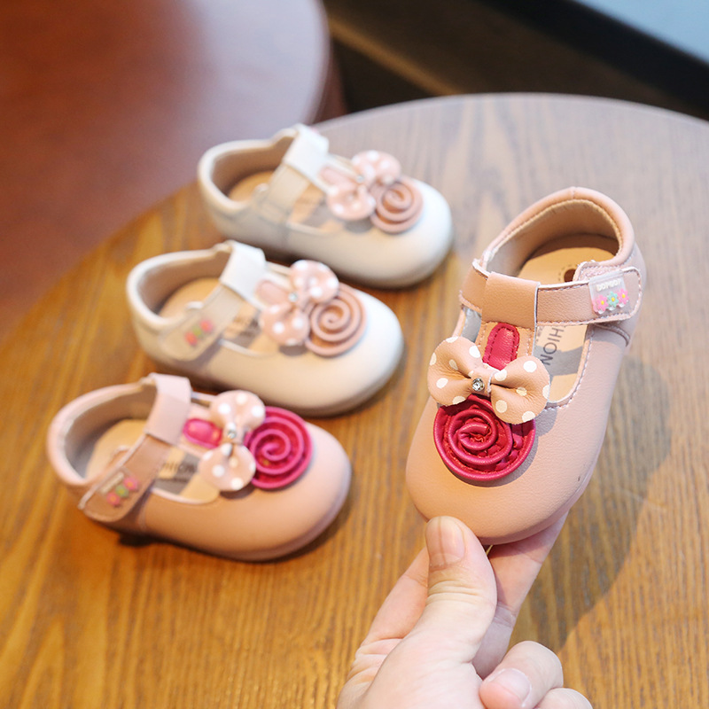 Spring And Autumn Baby Girls Princess First Walkers Anti-slippery Softsole Single First Walkers Kids First Walkers Toddler Shoes