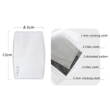 50Pcs/Lot 5 Layers N95 Activated Carbon Filter Insert Protective Filter Media Insert For Mouth Mask Anti Virus Dust PM2.5 Mask