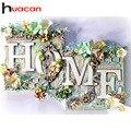 Алмазная 5D картина Huacan для дома, полноразмерная/круглая вышивка с цветами, пейзаж, настенное украшение, искусство бриллиантов