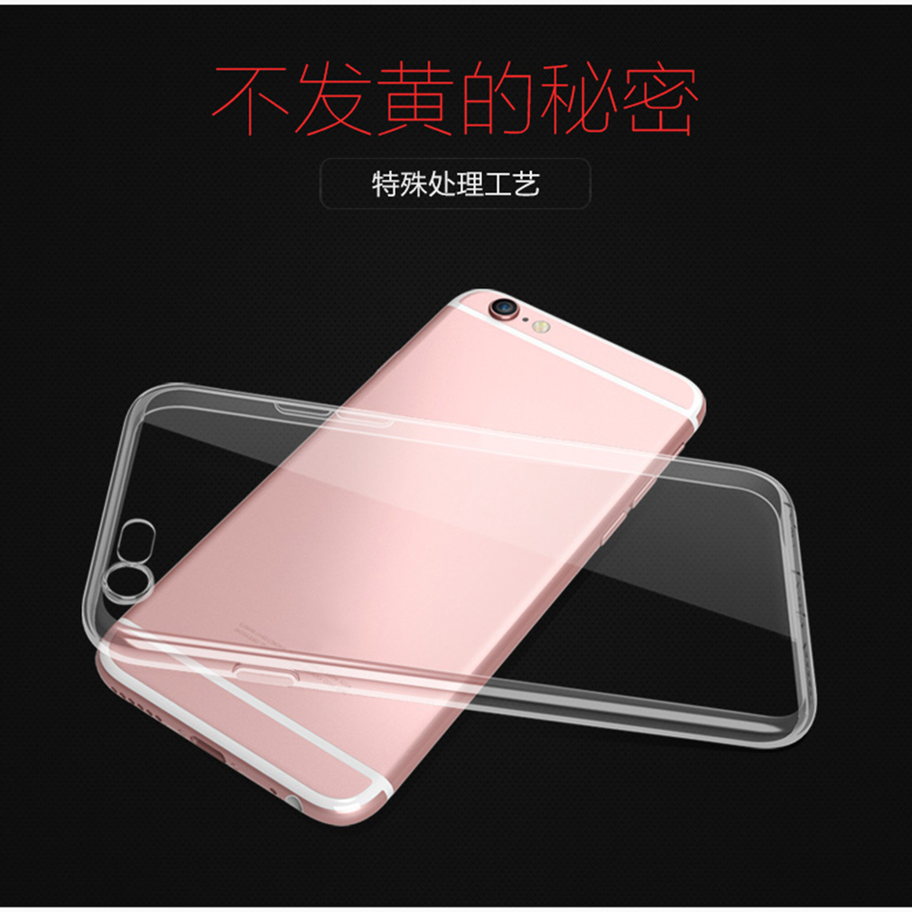 Transparent TPU Soft Protective Case for iPhone 7 Flexible Case Shock Absorption Deform Impact & Drops Scrapes Resistant