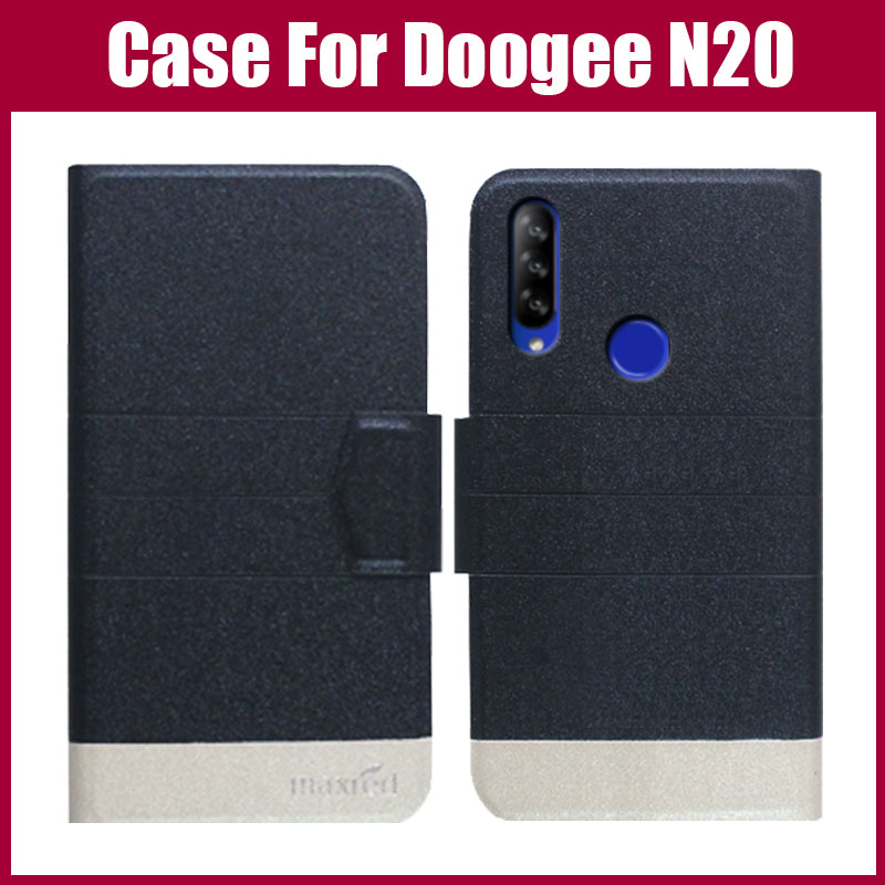 Hot Sale! Doogee N20 Case 5 Colors Flip Ultra-thin Colorful Leather Phone Protective Case For Doogee N20 Cover