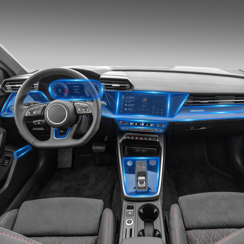 For Audi A3 8V 2021Car Interior Center console Transparent TPU Protective film Anti-scratch Repair film Accessorie Refit LHD RHD