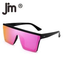 JM Flat Top Shield Sunglasses Square Mirror Rimless Glasses