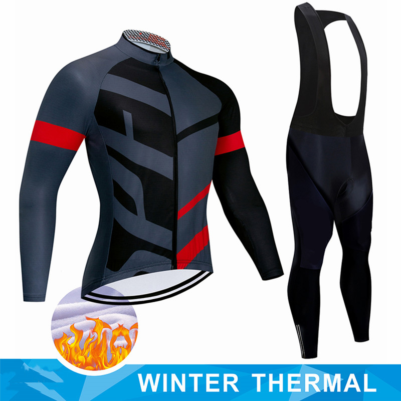 Новый зимний теплый флисовый комплект, одежда для велоспорта, мужской костюм из Джерси, спортивная одежда для езды на велосипеде и горном ве...