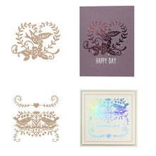 Elegant Good-looking Branch Hot Foil Plates Heart-shaped Wreath Lace Sowell Bird for Scrapbooking DIY Paper Cards Craft New 2019