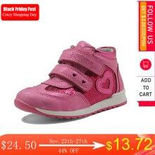 Apakowa zapatos de piel sintética con corazón para niñas, zapatillas infantiles antideslizantes con cremallera