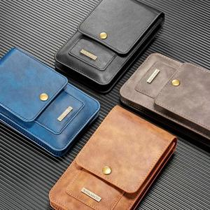Image 5 - Universal 6.5 5.5inch Phone Bag Premium Leather Pouch Case Holster Cover Belt Clip Loops for Samsung A51 S20 iPhone 12 11 Huawei