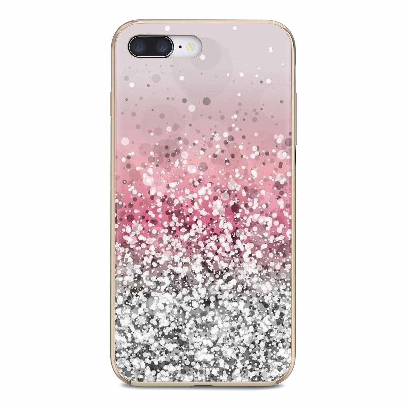 Soft Skin Cover Pastel Paars Sparkle Glitter Kunstwerk Voor Xiaomi Redmi 4A 7A S2 Note 8 3 3S 4 4X 5 Plus 6 7 6A Pro Pocophone F1