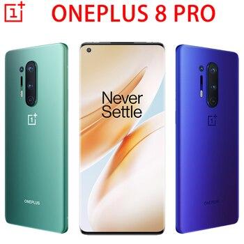 Перейти на Алиэкспресс и купить Мобильный телефон Oneplus 8 Pro, экран 6,78 дюйма, Восьмиядерный процессор Snapdragon 865, на базе Android 10, зарядка NFC, глобальная прошивка