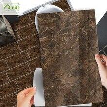Funlife[R] NOUVELLE MAISON série [TM] 30x60cm marron marbre imperméable Backspalsh carrelage autocollant pour sol cuisine salle de bain décor