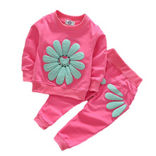Cute Sweater Girls-Sets Suit Pants Outfits Spring Baby Kids Winter Fashion Children 2pcs