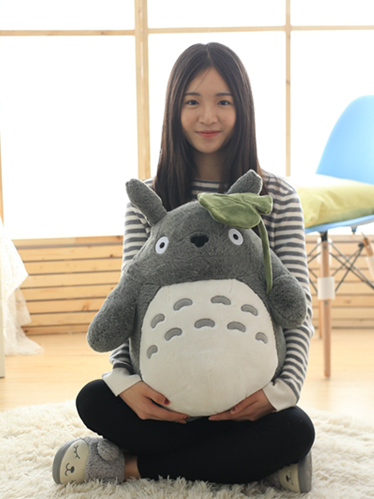Doll Plush-Toys Lotus-Leaf Stuffed Totoro Character Kids Cartoon Kawaii Soft with Teeth