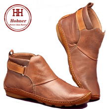 цена на Hohner women's autumn fashion warm medieval retro flatrounded qedge PU boots plus size