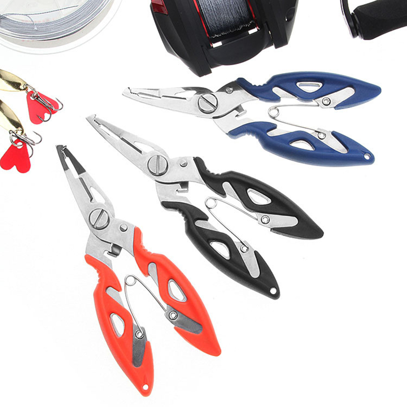 Fishing Plier Scissor Braid Line Lure Cutter Hook Remover Tackle Tool Cutting Fish Use Tongs Scissors Fishing Pliers 3 Colors(China)
