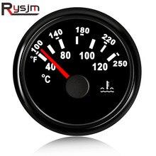 52 مللي متر استشعار درجة الحرارة الرقمية مقياس درجة حرارة الماء للسيارات السيارات موتو 12 فولت 24 فولت مقاوم للماء الأحمر LED ميزان الحرارة 40 120 درجة