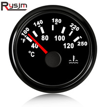 52mm טמפרטורת חיישן דיגיטלי טמפרטורת מים מד לרכב אוטומטי Moto 12V 24V עמיד למים אדום LED מדחום 40 120 תואר