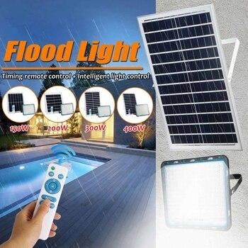 150/200/300/400W Multi-funktion Solar Flutlicht Im Freien Wasserdichte Wand Lampe Led Solar Lampen Garten Beleuchtung W/Solar Panel RC