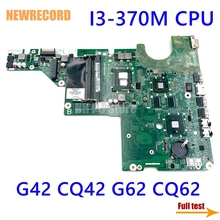 Newrecord 637584-001 DAAX1JMB8C0 Voor Hp Pavilion G42 CQ42 G62 CQ62 Laptop Moederbord I3-370M Cpu HM55 HD6370M DDR3 Belangrijkste board