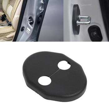 1pc Black ABS Car Door Lock Cover Stopper Protection For MITSUBISHI LANCER EX ASX image