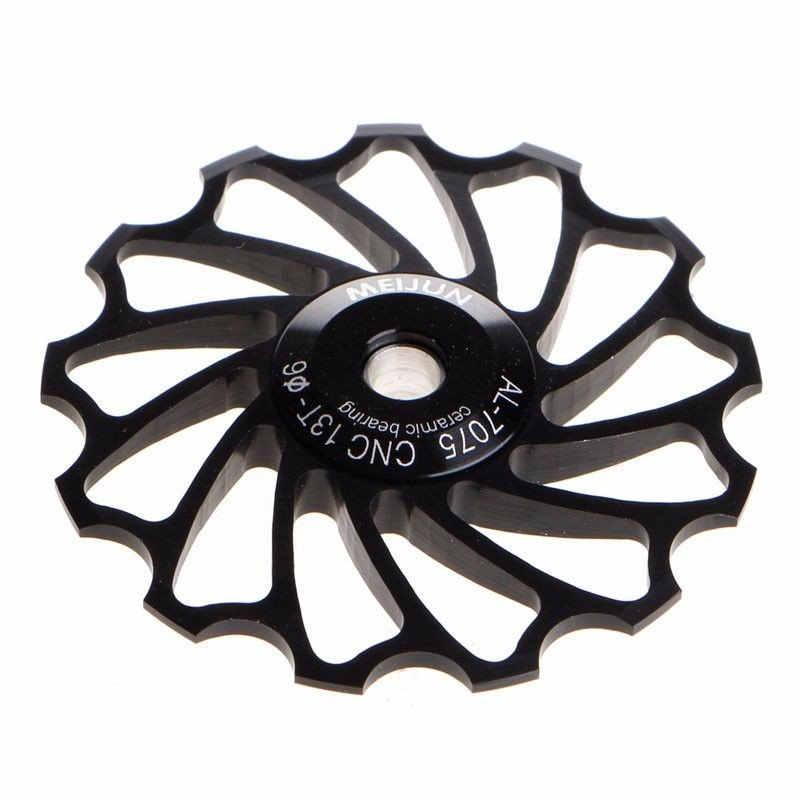 1 قطعة 13T دراجة نارية تحمل السيراميك عجلة شدادة بكرة الطريق دراجة دراجة الخلفية Derailleur الفولاذ المقاوم للصدأ تحمل دائم الدراجة 6