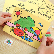 New Cartoon Kid's DIY Handmade Color Sand Painting Set Creative Handmade Material Color Painting Pupil Prize Children's Day Gift