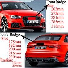 Badges noirs brillants d'excellente qualité, anneaux moyens, emblèmes de calandre et de coffre adaptés à l'Audi A3 A4 A4L A6L TT Q3 Q5 Q7 A5 A7 RS3 RS4 RS5 RS6