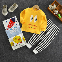 Brand Autumn Boys Clothes Toddler Warm Thicken Sets Christmas Outfit Baby Girl Cartoon Sleepwear Kids Printed Pajamas