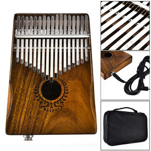 Electric-Pickup Speaker Keyboard Instrument Bag-Cable Calimba Acacia EQ with Mbira Muspor