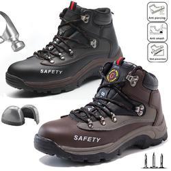 Sapatas de segurança anti-quebra de aço do dedo do pé do pé do trabalho formadores de proteção botas de caminhada sapatos de segurança