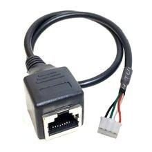 Passo 4p do ph 2.0 ao cabo fêmea rj45 à linha de cabo fêmea de 4pin ethernet