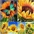 5D DIY Diamond Painting Sunflower Full Square/Round Diamond Embroidery Flower Cross Stitch Kit Rhinestones Mosaic Home Decor