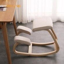 Домашнее кресло-качалка JOYLIVE, офисная мебель, оригинальное эргономичное кресло-качалка на коленях, деревянное кресло-качалка для компьютер...